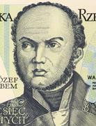 Josef Bem on 10 Zlotych 1982 Banknote From Poland - stock photo