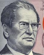 Josip Broz Tito on 5000 Dinara 1985 Banknote from Yugoslavia Stock Photos