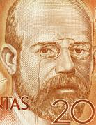 Leopoldo Alas Clarin on 200 Pesetas 1980 Banknote From Spain - stock photo