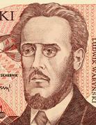 Ludwik Warynski on 100 Zlotych 1988 Banknote from Poland Stock Photos