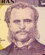 Marco Aurelio Soto on 2 Lempiras 2003 Banknote from Honduras Stock Photos