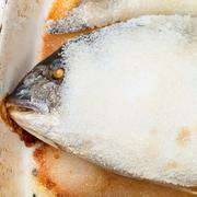Baked dourada fish Stock Photos