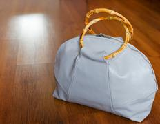leather traveling bag - stock photo