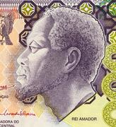 Rei Amador on 5000 Dobras 2004 Banknote from Saint Thomas and Prince Stock Photos