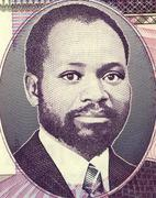 Samora Moises Machel on 20 Meticais 2006 Banknote from Mozambique - stock photo