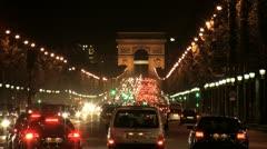 Champs-Élysées Arc de Triomphe, Paris Stock Footage