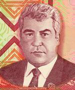 Saparmurat Niyazov on 1000 Manat 2005 Banknote from Turkmenistan - stock photo