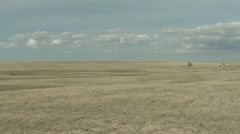P02028  Pan of Great Plains Grassland Scenery - stock footage