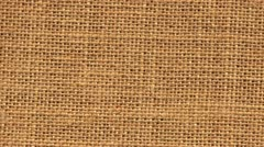 Zoom out closeup on sackcloth material Stock Footage
