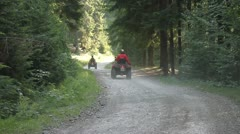 All Terrain Vehicles in forest, ATV, Off-road - stock footage