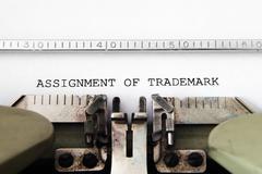Assignment of trademark Stock Photos