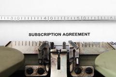 subscription agreement - stock photo