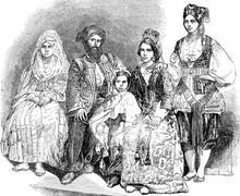 Algerian Perhe Kuvituskuvat