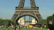 Stock Video Footage of Zoom out eiffel tower, Paris