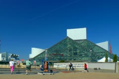 Cleveland Rock and Roll hall of fame Stock Footage