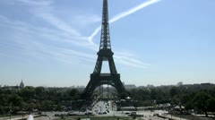 Time lapse Eiffel tower Stock Footage