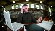 Stock Video Footage of Frustrated Student 2675