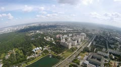 District of Moscow Ostankino is visible from Ostankinsky tower Stock Footage