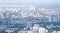 District of subway Sokol is visible from television tower Stock Footage