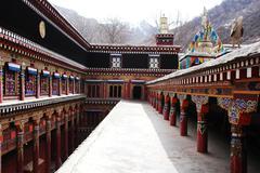 Tibetan lamasery Stock Photos