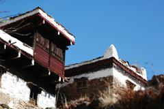Tibetan buildings Stock Photos