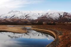 landscape in winter - stock photo