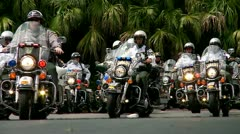 Police Motorcade Stock Footage
