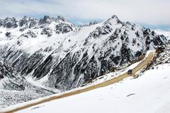 Landscape in winter Stock Photos