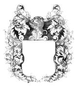 Heraldic Crest - stock photo