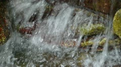 River stream on mountain valley. Stock Footage