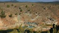 Hot Springs 02 Hot Creek Stock Footage