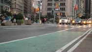 Stock Video Footage of Taxis and New York City Traffic