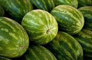 Stock Photo of close-up of watermelons