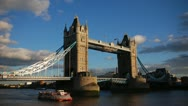 Stock Video Footage of Timelapse of London  bridge at sunset, dusk