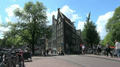 Amsterdam crooked house  Stock Footage