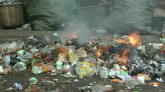 Incineration of waste - stock footage