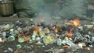 Incineration of waste Stock Footage