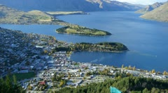 0155-queenstown-view2 - stock footage