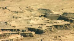 view form Masada: Judean desert - stock footage