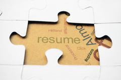 Resume puzzle concept Stock Photos