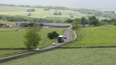 Country road scene Stock Footage