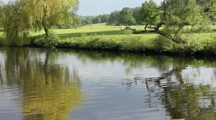 Tranquil on river Stock Footage