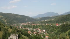 Bran locality valley from Transilvania Stock Footage