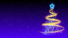 Christmas Tree Background - Merry Christmas 18 (HD) Stock Footage