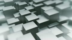 Background loop of waving cubes. Version B. Stock Footage