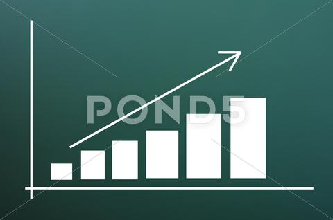 Stock photo of business chart of growth