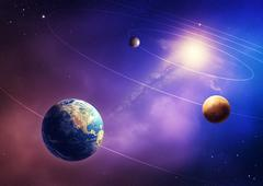 inner solar system planets - stock illustration