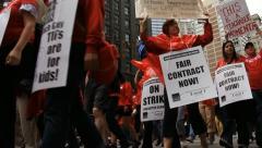 Teachers Strike Chicago 5 Stock Footage