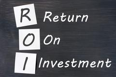 roi acronym for return on investment - stock photo