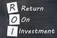 Roi acronym for return on investment Stock Photos
